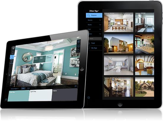 Zillow Digs iPad App