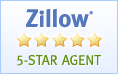 I'm now a Zillow 5 Star Agent!