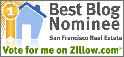 sanf nomin SFHotlist nominated as one of the Best San Francisco Real Estate Blogs on Zillow! Vote for us? Pretty please with sugar on top.