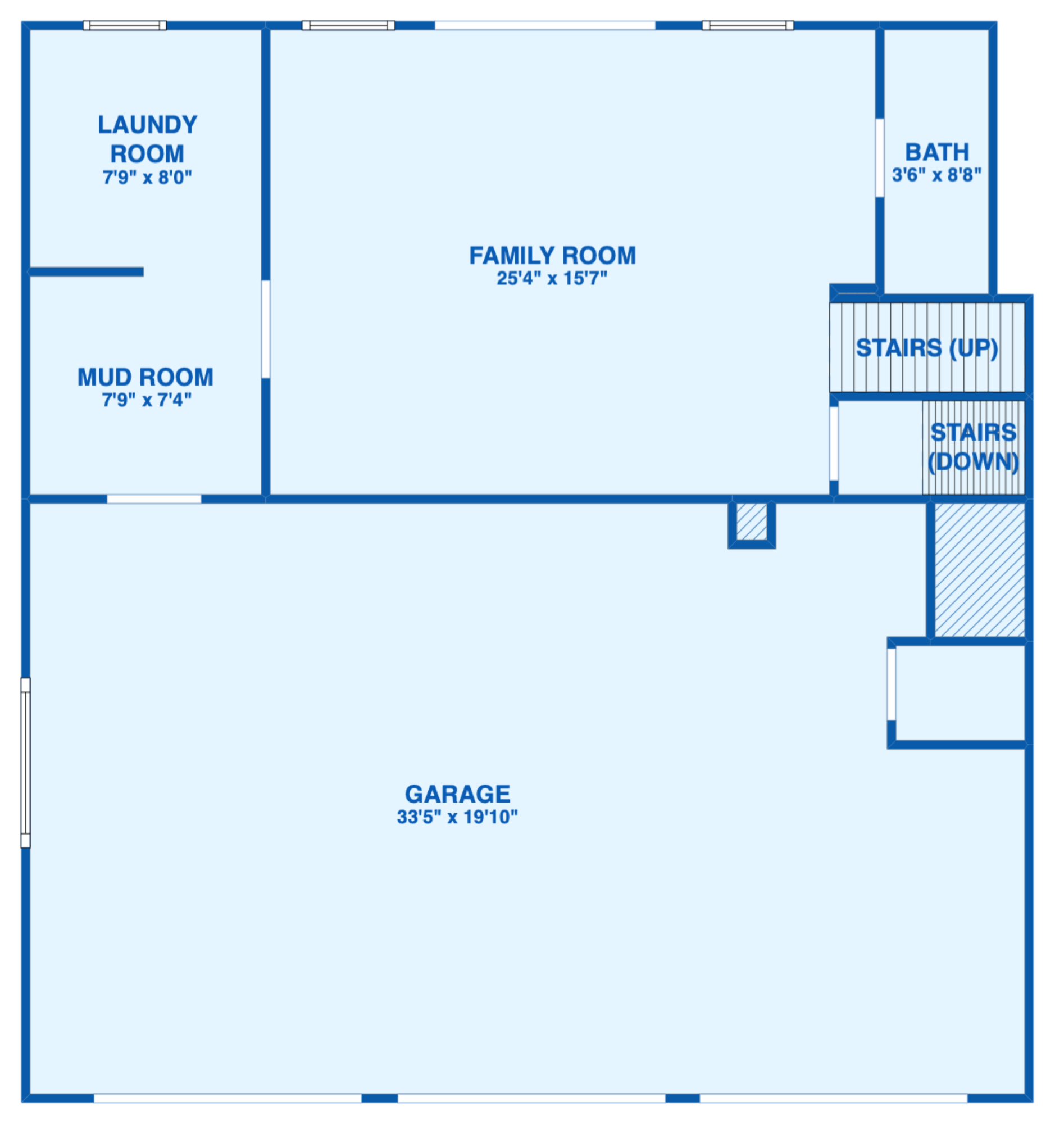 Floor plan for Basement