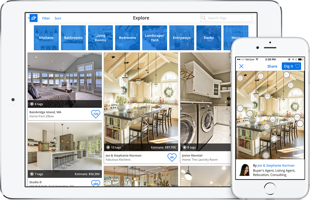 zillow digs app - Zillow Home Design