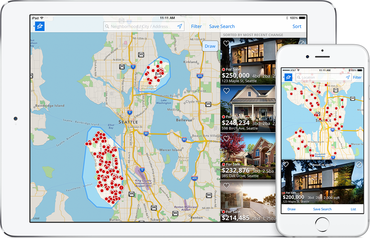Zillow Property Value Map Real Estate Mobile Apps   Zillow Zillow Property Value Map